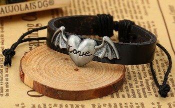 bransoletka BAT LOVE, brązowa