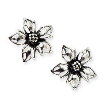 kolczyk FLOWER, srebro 925 para
