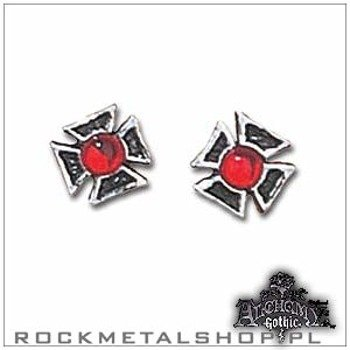 kolczyk FORMEE CROSS (PAIR) [E187] Alchemy Gothic