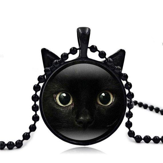 wisiorek CAT BLACK