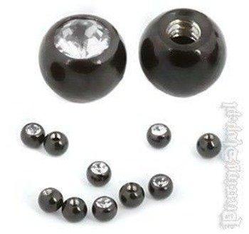 NAKRĘTKA KULKA BLACK LINE oczko crystal śr. 5mm gwint 1,6mm [BKJB]