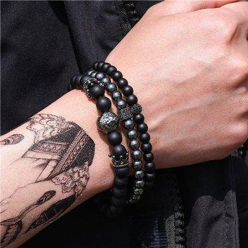 bransoletka LION BLACK, zestaw 3 bransoletki