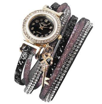 bransoletka/zegarek CYRKONIE STARDUST BLACK
