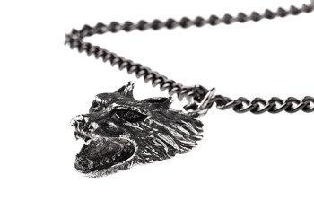 wisior + łańcuch WOLF