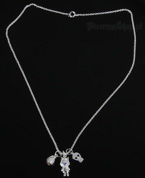 Srebrny łańcuszek GRANAT CZACHA DZIEWCZYNKA oczko niebieskie [SPE-46]